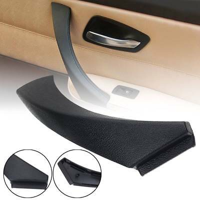 Black Right Inner Door Panel Handle Outer Trim Cover For BMW E90 3-Series Sedan