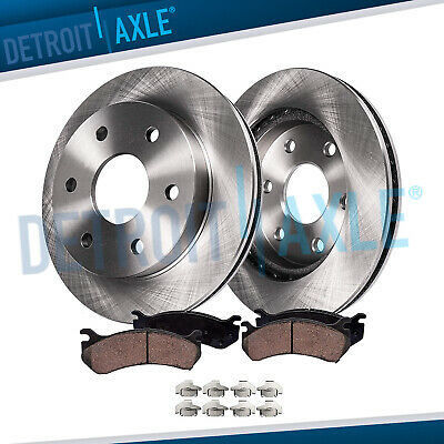 FRONT DISC BRAKE Rotors & Ceramic Pads Yukon 2001-2006 Tahoe