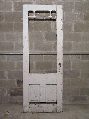 ~ Antique Carved Victorian Entry Door  ~ 31.5 X 85 ~ Architectural Salvage ~