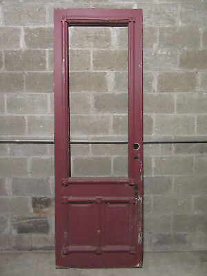 ~ Ornate Antique  Victorian Entry Door  ~ 32 X 93 ~ Architectural Salvage ~