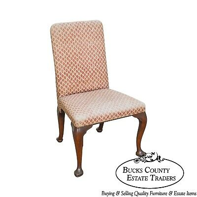 Kittinger Colonial Williamsburg Collection Mahogany Queen Anne Side Chair