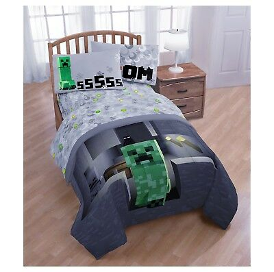 New 4 Piece Bed Set Minecraft Comforter Sheets Twin 69 99