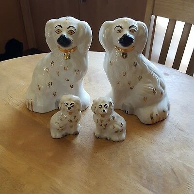 VINTAGE 2× Pair Of BESWICK ENGLAND STAFFORDSHIRE DOGS 1378 - 5 and 1378-7
