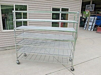 AMCO Wire Rack / Shelving,  2'  Wide  X  6'  Long  X  6' High.  CLEVELAND, OHIO