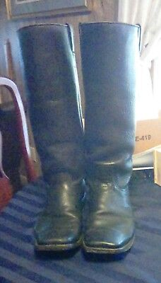 CIVIL WAR CAVALRY Boots Black Leather Reenactment Officers Size 11 wide