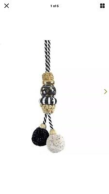 MacKenzie-Childs Black Tie Pom Pom Tassel - Small ~NEw & AuTHenTIC