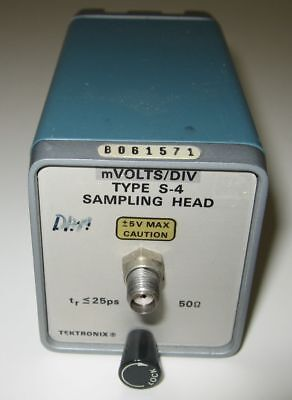 Tektronix S-4 Sampling Head Plug-In 25pS Risetime sku# E18004