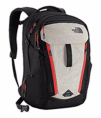 THE NORTH FACE Surge Reflective Black Red Backpack Bag Carry-On TSA Laptop 15