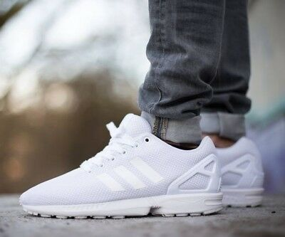 4f3b7608b3780 ADIDAS ZX FLUX TRIPLE WHITE nt NMD ultraboost roshe running athletic shoes  eqt