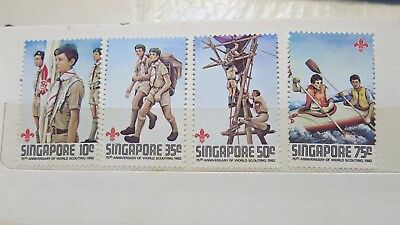 1982 Singapore 75th Anniversary of Scouts 4 Stamp Set MUH
