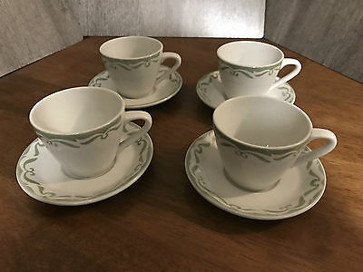 Grindley Hotelware Duraline Set of Four Mugs With Saucers