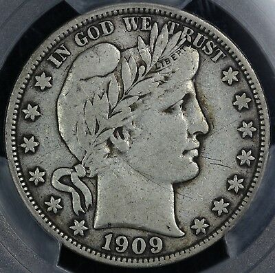 1909-S 50c Barber Half Dollar PCGS and CAC VF 20