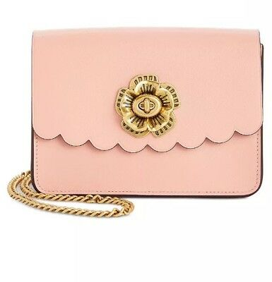 COACH Bowery Peony/Gold Mini Crossbody with Tea Rose Turnlock