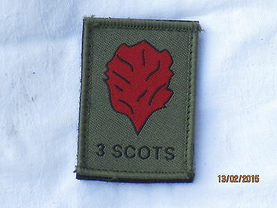 Royal Regiment of Scotland, 3 Scots, TRF, Patch, MTP