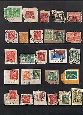 Selection Of Victoria Postmarks On Mostly Pre-Decimal Stamps(B).
