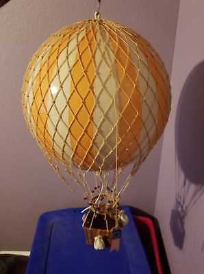 """Hanging Aircraft Ceiling Decor """"ORANGE & WHITE STRIPED HOT AIR BALOON MODEL 13"""""""