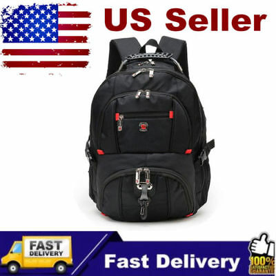 "Men's Nylon Laptop Backpack Travel School Pack 15.6"" Notebook Bag Waterproof AS"