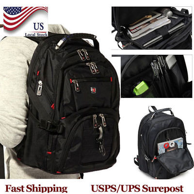 "Men's Rucksack Waterproof Notebook 15.6"" Laptop Backpack Big Travel School Bag A"