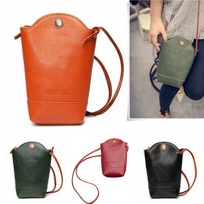 KD_ Retro Women's Wallet Purse Leather Coin Cell Phone Cross-body Shoulder Bag