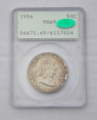 1956 PCGS MS65 Toned Franklin ~ Rattler and CAC!