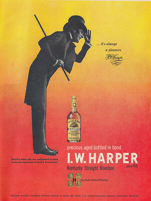 1949 IW Harper Bourbon: Its Always a Pleasure Vintage Print Ad
