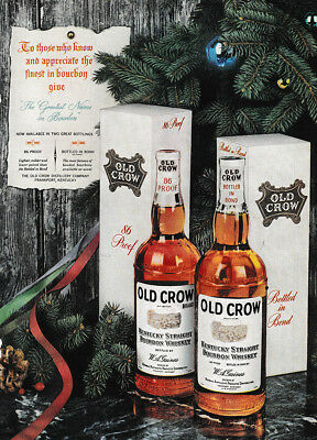 1953 Old Crow: To those Who Know and Appreciate Vintage Print Ad
