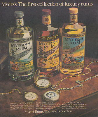 1982 Myers Rum: First Collection of Luxury Rums Vintage Print Ad