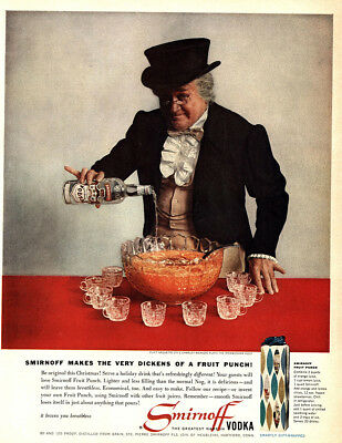 1959 Smirnoff: Makes the Very Dickens of a Fruit Punch Vintage Print Ad