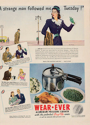 1958 Wear-Ever: Something New and Turquoise Blue Vintage Print Ad