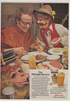 1972 Smirnoff: The Midnight Brunch Vintage Print Ad