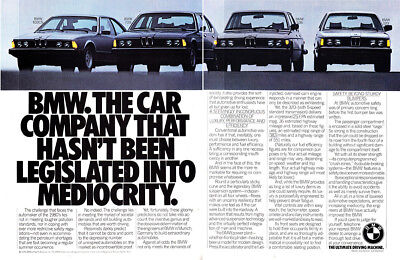 1980 BMW: Hasn't Been Legislated Into Mediocrity Vintage Print Ad