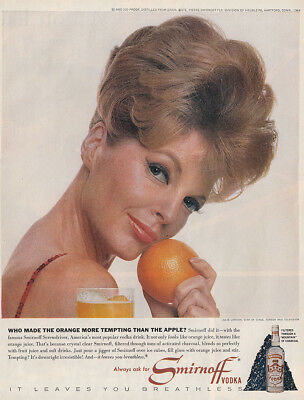 1964 Smirnoff: Julie London Vintage Print Ad