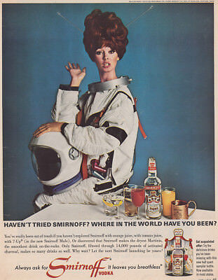 1966 Smirnoff: Where In the World Have You Been Vintage Print Ad
