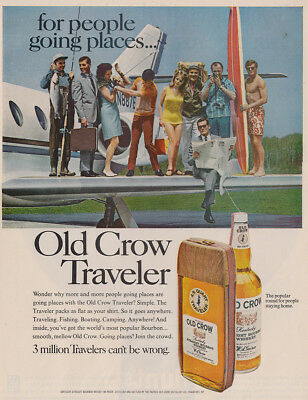 1968 Old Crow: For People Going Places Vintage Print Ad
