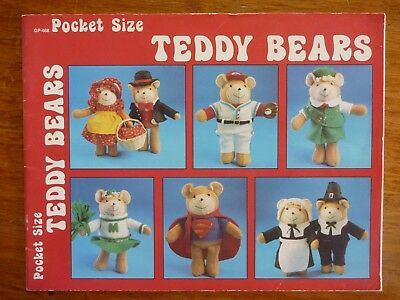 Pocket Size Teddy Bears - Pattern Book To Make & Create
