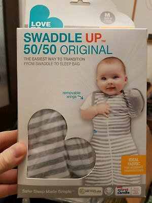 Love to Dream Swaddle UP 50/50 Gray MED 13 to 18 lbs new