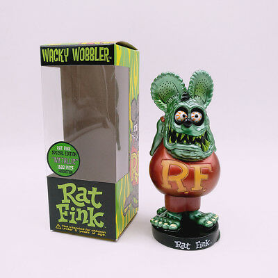 Green Rat Fink Rare Wacky Wobbler Loose Toy Bobblehead Big Daddy Action Figure