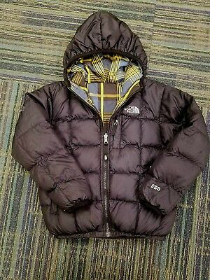 The North Face Boys Small 7/8 Black Reversible 550 Down Puffer Jacket