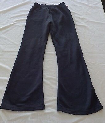 Girls size 12 NAVY BLUE  PSW School Pants track pants comfy vgc
