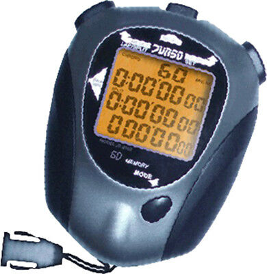 JS9002 Stopwatch LCD Professional Handheld Sport Stop Watch Timer Alarm Counter