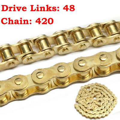 48 Links 420 Gold Drive Chain For 50cc 110cc 125cc PIT Dirt Bike PITBIKE UK