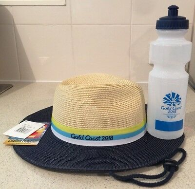 Commonwealth Games Gold Coast 2018 Volunteer Games Hat and Water Bottle