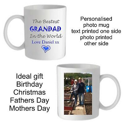 Personalised Best Granda Daddy Dad Uncle Photo Mug Cup Christmas Birthday Gift