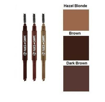 W7 Twist And Shape 2in1 Brow Pencil and Comb / Soft Pencil & Stylist Brush / NEW