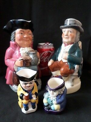 Delightful Collection Of Character Toby Jugs (4 In Total)