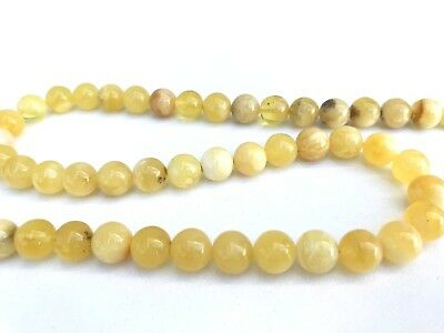 Pure genuine Natural BALTIC AMBER stone round beads necklace 20g.#1377 Bernstein