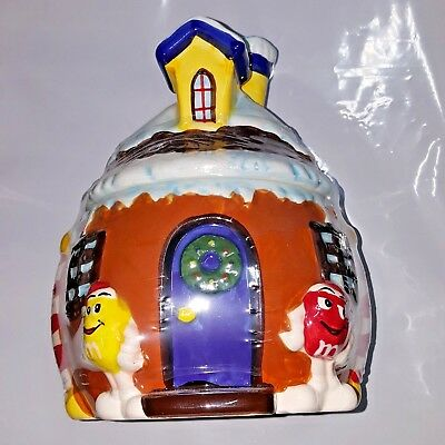 2008 M&M's Ceramic House Treat Jar - Still Wrapped in original wrapping