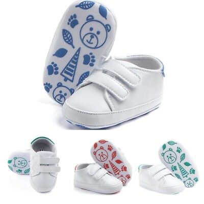 Newborn Baby Soft Sole Crib Shoes Infant Boy Girl Toddler Sneaker Trainers