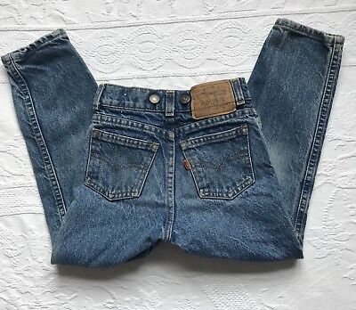 Vintage Levi's Jeans Made in USA Boys Size 7 Orange Tag Little Levis Button Fly