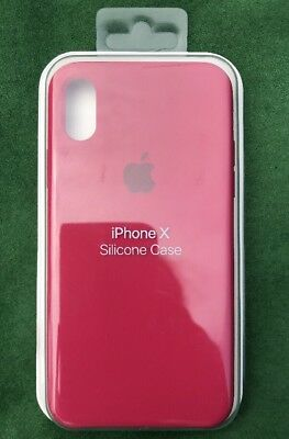 cheap for discount 74ab8 7ae35 AUTHENTIC APPLE IPHONE X Silicone Case - Rose Red Genuine Apple iPhone X  Cover